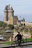 France, Brittany, Saint Malo, Aleth, tower of Solidor.