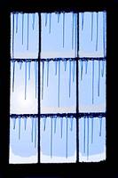 frozen glass window