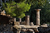 Ruins of ancient Olympia  Peloponnese  Greece