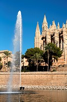 Spain, Balearic islands, Majorca, Palma de Majorque, cathedral