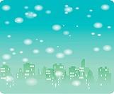 City under snow