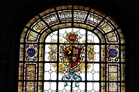 Switzerland, Geneva, museum of art, stain glassed window