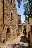 Typical street at old town in Altafulla,Tarragona province, Catalonia, Spain, Europe