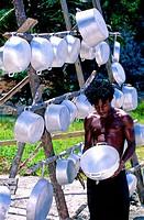 Jamaica, alumium soucepans