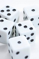 Dice picture over white background with details.