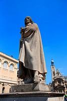 France, Paris, the Pantheon, statue of Pierre Corneille