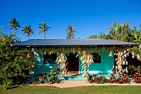 French Polynesia, Austral islands, Tubuai island, house