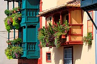 Spain, Canary islands, La Palma, Santa Cruz, flowery balcony