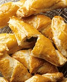 Hearty puff pastry horn with spinach filling