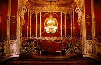 Russia, St Petersburg, palace of Catherine II, the red room