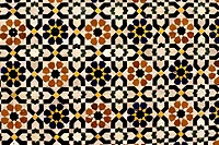 Fez, Morocco - Geometric Tile Work, Tomb of Moulay Idris II