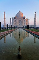 India - Uttar Pradesh - Agra - the Taj Mahal and reflection