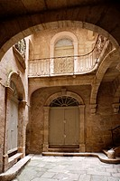 The Hotel or house of Moulceaux was built in the XVth century its wrought iron balustrade typical of the XVIII century when it was installed Pezenas F...