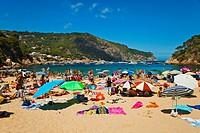 Aiguablava beach, Begur, Baix Empordá, Costa Brava, Girona Province, Catalonia, Spain.