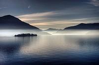 morning haze over the Lake Maggiore