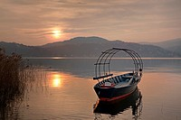 sunset at the Lake Maggiore in Italy