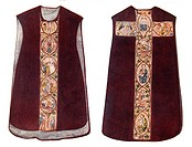 An English Chasuble or Vestment worn by a priest during Mass, circa 1300