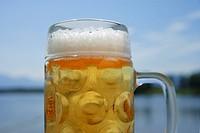 Europe, Germany, Bavaria, Upper Bavaria, Beer in mug, close up