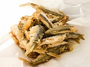 Deep Fried Smelts, Typical Street Food of Genoa, Liguria, Italy at Terra Madre Street Fair