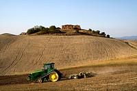 Tractor, Saltiano, Tuscany, Italy