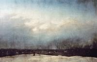 FRIEDRICH: SEA, 1809-10.The Monk by the Sea, by Casper David Friedrich. Oil on canvas, 1809-10.