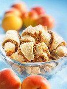 Rugelach Jewish pastries with apricots