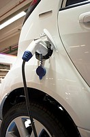Paris, France, Detail, Plug-in Cable to Electric Car at Industrial Trade Show, ´Foire de Paris´ Products on Display