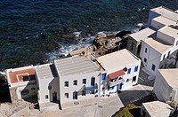 Mandraki, view, houses, Nisyros, Dodecanese, Greece