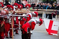 Pikemen, The Honourable Artillery Company performing a ceremonial act at the Lord Mayor's show 2010