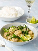 Green chicken curry Thailand