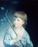 GEORGE W. P. CUSTIS.(1781-1857). American playwright and grandson of Martha Washington. Custis at age 4. Oil on canvas, 1785, by R.E. Pine.