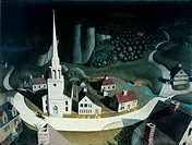 GRANT WOOD.'The Midnight Ride of Paul Revere', 1931.