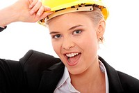 Portrait of confident female worker