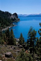 High angle view of Lake Tahoe, Nevada, USA