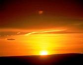 Sunset over a landscape