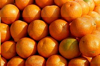 Close_up of a pile of oranges