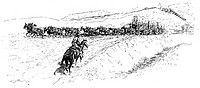 RUSSELL: FREIGHTING.'Freighting from Fort Benton.' Drawing by Charles M. Russell (1864-1926).