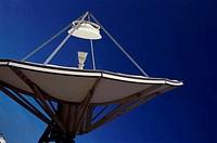 Close_up of a satellite dish