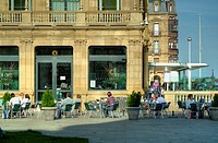 Cafe in the Victoria Eugenia Theater  Donostia  Basque Country  Spain