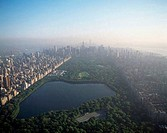 Aerial view of a park in a city, Central Park, Manhattan, New York City, New York, USA