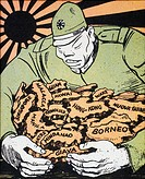 JAPAN: IMPERIALISM'Delicacies of the season/Yellow .. bread.' French cartoon, c1941, on Japanese imperialism.