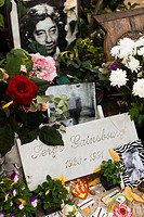 France, Paris, Montparnasse Cemetery, grave of Serge Gainsbourg, singer and songwriter