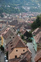 Views from the clock tower  Sighisoara, Transylvania, Romania, Europe