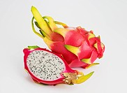 Dragon fruit or Pitaya on white background