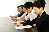 Business executives planning in a conference room