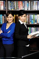 Businesswomen standing in an office