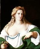 A BLOND WOMAN.Palma Vecchio. Panel, c1510.