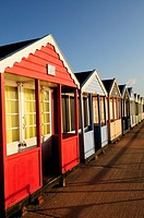 Beach Huts at Southwold, Suffolk, England, UK