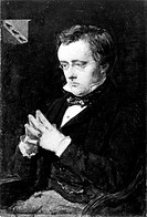 WILLIAM WILKIE COLLINS(1824-1889). English novelist. Oil on panel, 1850, by Sir John Everett Millais.