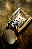 Money with a padlock